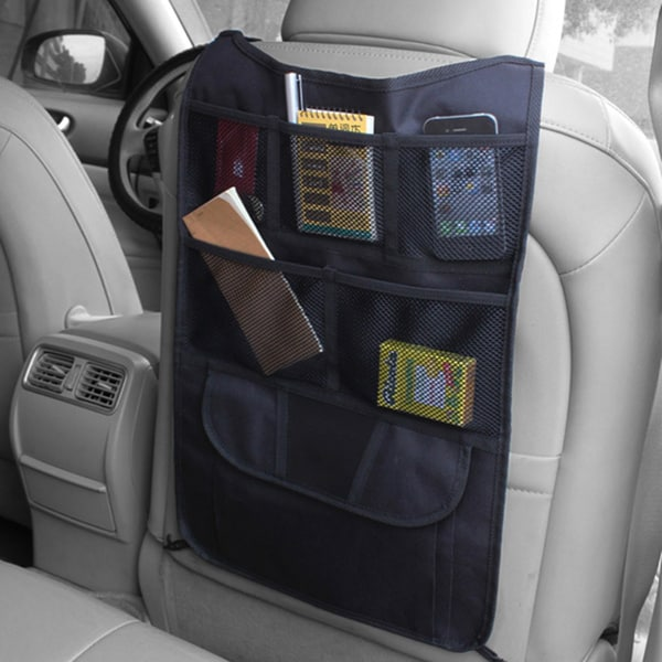 Adeco Black Multi-pocket Car Seat Back Organizer Storage Bag