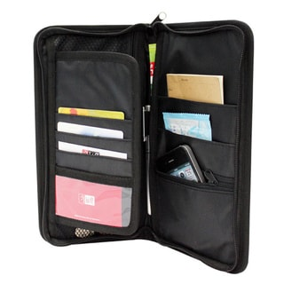 Adeco Black Multi-pocket Glove Box Organizer Storage