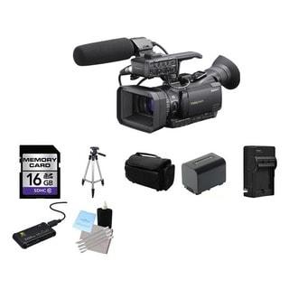Sony HXR-NX70U NXCAM Weatherproof Compact Camcorder 16GB Bundle