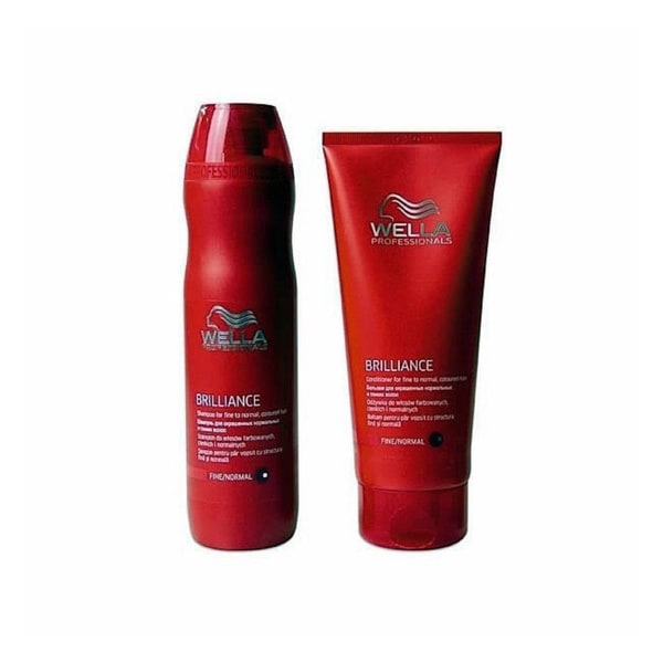Wella Brilliance Fine To Normal Hair Shampoo And