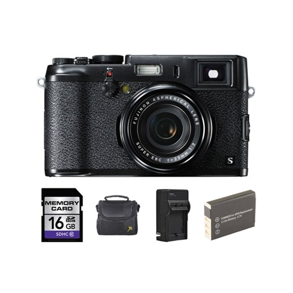 FujiFilm X100S 16MP Black Digital Camera 16GB Bundle