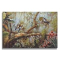 Wilson 'Little Birds on Branches in Tropical Forest' Gallery-wrapped Canvas Art