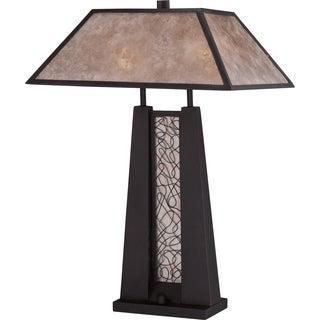 Mica Nero Imperial Bronze Finish Table Lamp