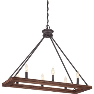 Plantation Darkest Bronze Finish 6-light Island Chandelier