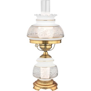 Satin Lace 2-light French Gold Table Lamp