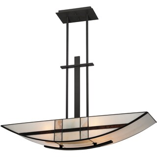 Luxe 4-light Mystic Black Island Chandelier