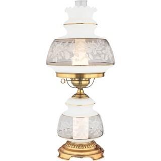 Satin Lace 2-light Flemish Gold Table Lamp