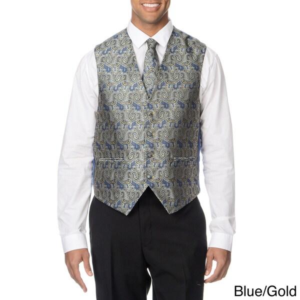 Falcone Men's 4-piece Reversible Vest Set