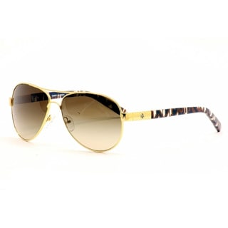 Tory Burch Women's TY 6010 Gold Blue Vase/Smoke Gradient Sunglasses