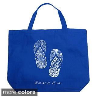 LA Pop Art Beach Bum Flip Flops Shopping Tote Bag
