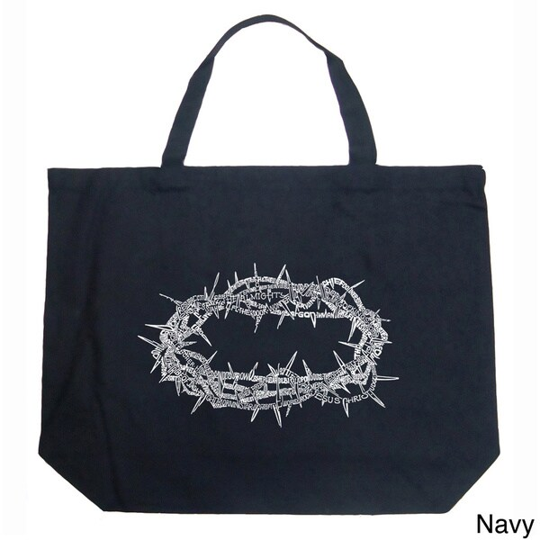 LA Pop Art Crown of Thorns Shopping Tote Bag