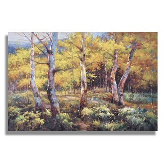 Wilson 'Beautiful Birch Trees in Fall Colors' Gallery-wrapped Canvas Art