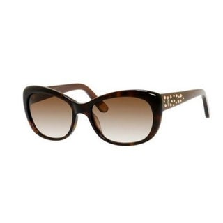 Juicy Couture Women's '556/S' Dark Havana/ Brown Cat Eye Sunglasses
