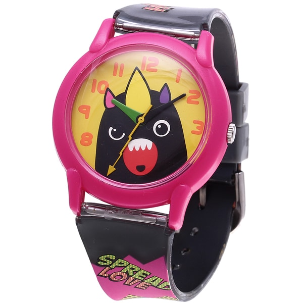 So So Happy Kids' Mad Dog Black Monster Charater Analog Watch