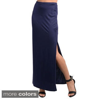 Feellib Women's Knit Maxi Skirt