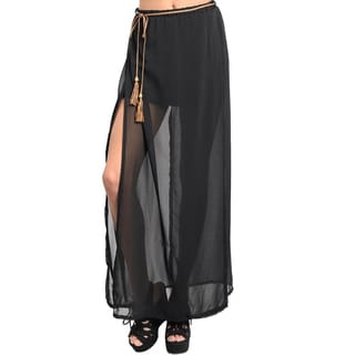 Shop The Trends Women's Side Slit Maxi Skirt