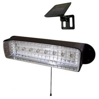 Solar-powered 8-LED Shed Light