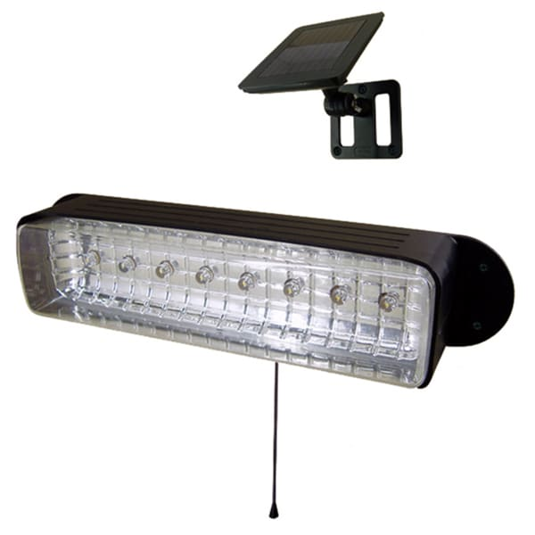 Solar-powered 8-LED Shed Light