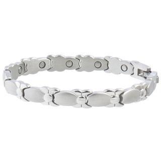 Sabona Lady Silver Bows Magnetic Bracelet