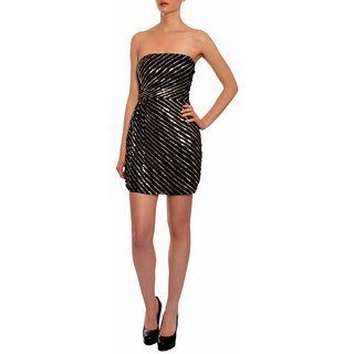 Theory Women's Dazzling Sequin Silk Party Eve Dress