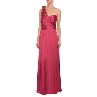 Mikael Aghal Women's One Shoulder Evening Gown Dress