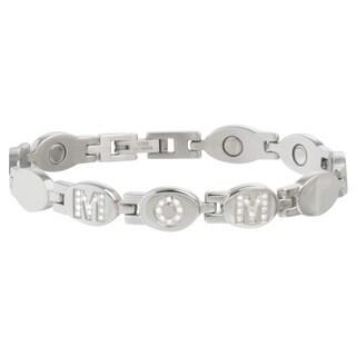 Sabona 'Mom' Stainless Gem Magnetic Bracelet