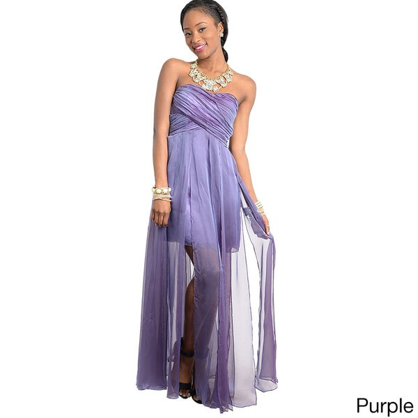 Feellib Women's Grecian Style Maxi Dress