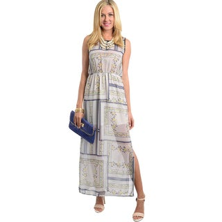 Feellib Women's Side Slit Maxi Dress