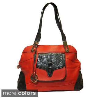 Michael Michelle 'Haifa' Two-tone Satchel
