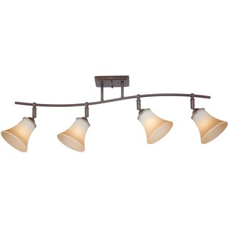 Duchess Palladian Bronze Finish 4-light Fixed Track Fixture
