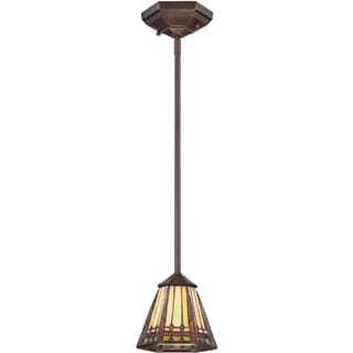 Arden Russet Finish Rod Hung Mini Pendant