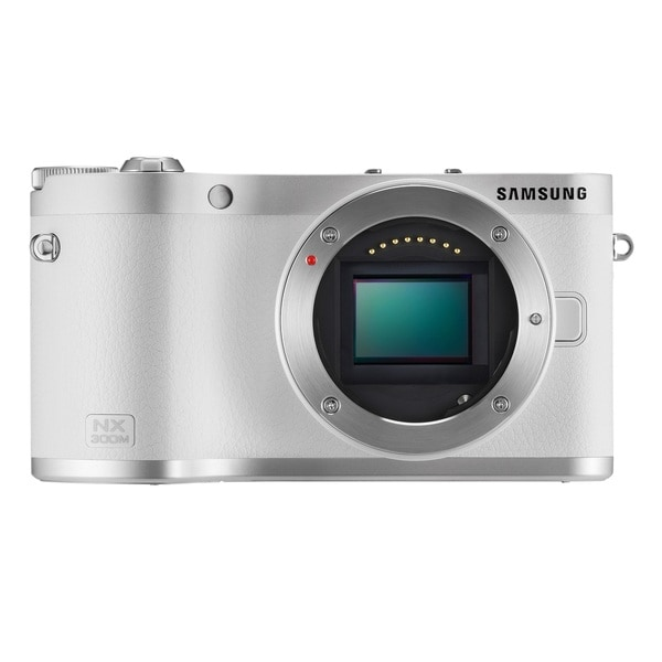 Samsung NX300M Mirrorless 20.3MP Wi-Fi White Digital Camera Body