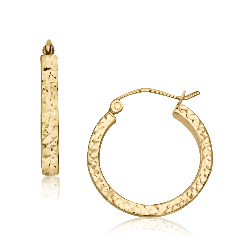 Gioelli Designs Gioelli 14k Yellow Gold Inside-out Diamond-cut Hoop Earrings at Sears.com