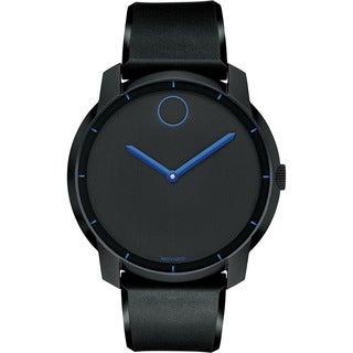 Movado Bold 3600191 Black/ Blue Silicone Strap Watch