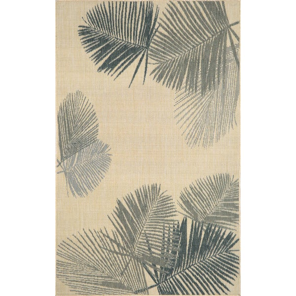 Leaves Outdoor Area Rug (3'3 x 4'11) - 3'3 x 4'11 12810075