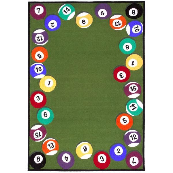 Pool Balls Outdoor Area Rug 3 6 X 5 6