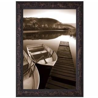 Row Boat Awaits' by Danita Delimont Framed Art Print