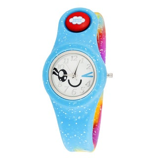 So So Happy Kids' Wink Rainbow Blue Snap Button Character Watch