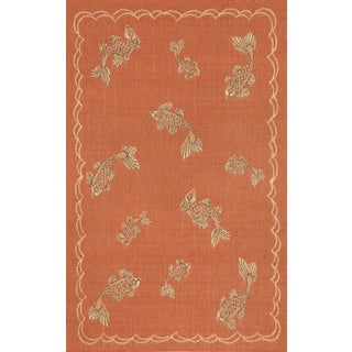 Lucky Fish Outdoor Area Rug (4'11 x 7'6)