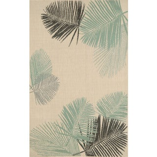 Leaves Outdoor Area Rug (4'11 x 7'6)