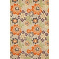 Scattered Flowers Outdoor Area Rug (5' x 7'6)