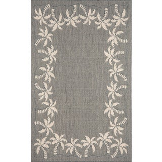 Beach Border Outdoor Area Rug (4'11 x 7'6)