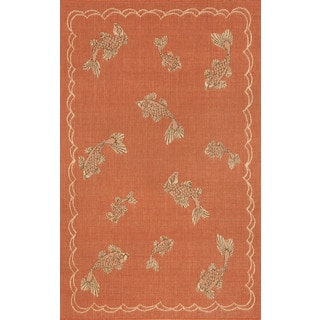 Lucky Fish Outdoor Area Rug (3'3 x 4'11)