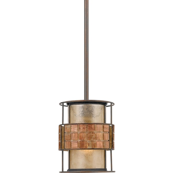 Laguna 1-light Renaissance Copper Rod Hung Mini Pendant