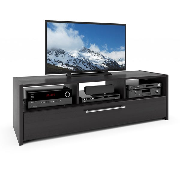CorLiving Naples TV/ Component Black Grain Bench