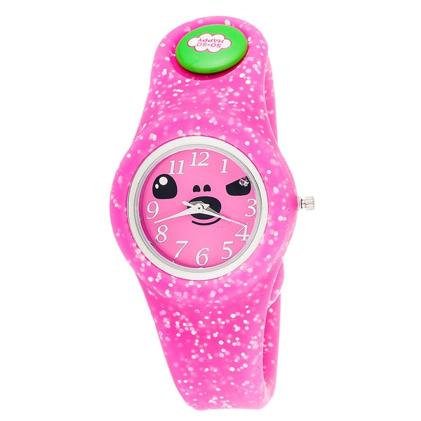 So So Happy Kids' Taco Pink Snap Button Character Watch