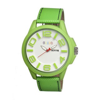 Crayo Men's 'Horizon' Green Leather Olive Analog Watch