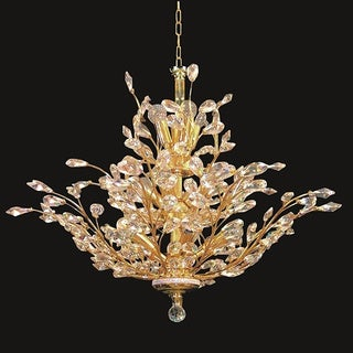 Twiggy 18-light Clear Crystal Gold Chandelier