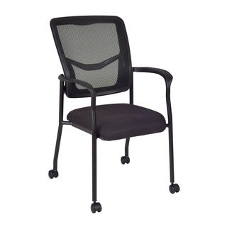 Kiera Black Mesh Caster Side Chair