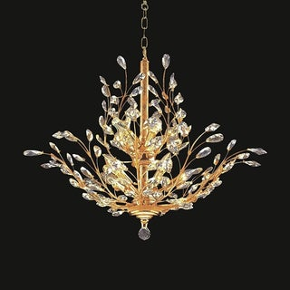 Twiggy 10-light Clear Crystal Gold Chandelier